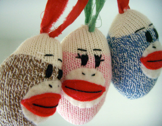 Sock Monkey Ornament ($8)