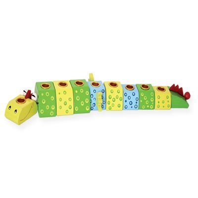 Wooden Hanukkah Crocodile Menorah