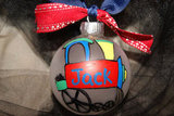 Personalized Hand Painted Train Ornament ($7)