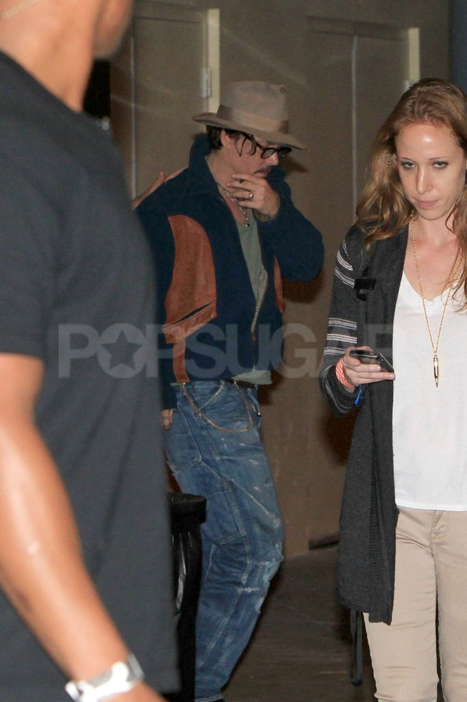 Johnny Depp left an Iggy and the Stooges concert in LA.