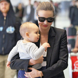 Miranda Kerr With Flynn Bloom in Sneakers Pictures