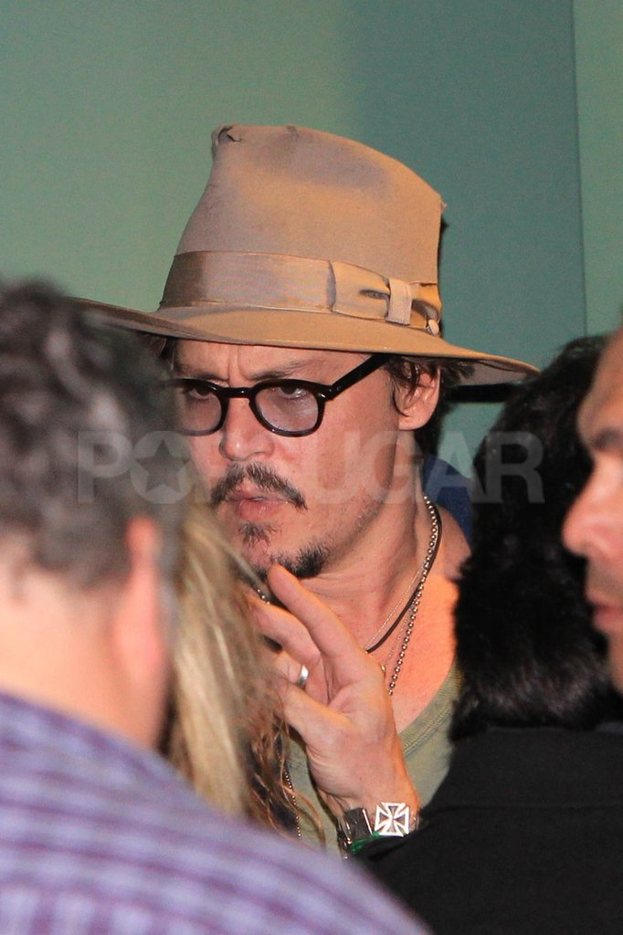Johnny Depp wore a hat in LA.