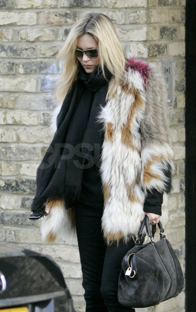 Kate Moss headed out in London.