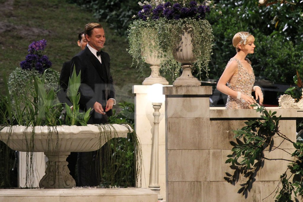 Leonardo DiCaprio and Carey Mulligan were in full costume for The Great Gatsby.