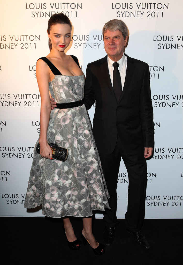 Miranda Kerr met with Louis Vuitton's Yves Carcelle in Sydney.