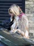 Kate Moss wore an Isabel Marant fur jacket.