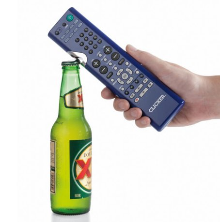 Remote Control and Bottle Opener Hybrid
