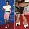 Zoe Saldana Wearing Giambattista Valli Dec. 1, 2011