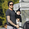Harper Beckham Pictures With Family at Romeo's Soccer Game