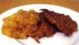 Curried Sweet Potato Latkes With Homemade Apple Pear Sauce
