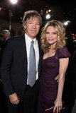 Michelle Pfeiffer and David E. Kelley at the premiere of New Year's Eve in LA.