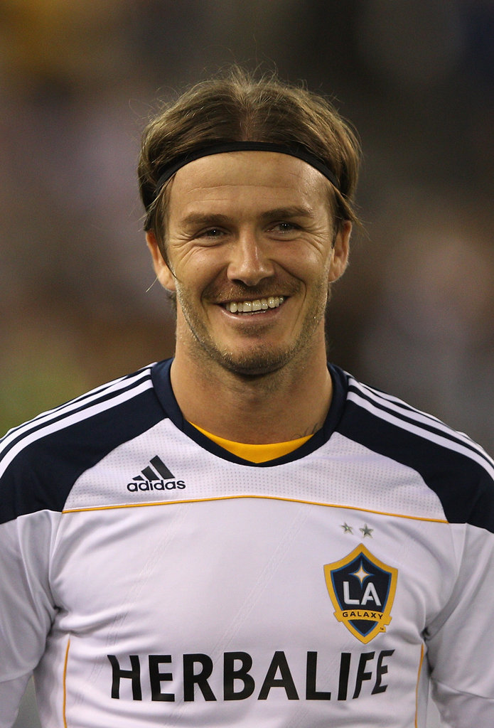 David Beckham smiled during a game against the Melbourne Victory in Australia.