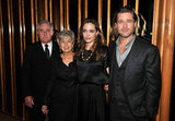 Angelina Jolie and Brad Pitt posed for a photo with his parents.