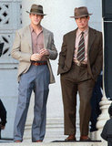 Ryan Gosling and Josh Brolin were in LA shooting Gangster Squad.