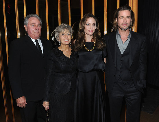 Angelina Jolie, Jane Pitt, Bill Pitt, and Brad Pitt attended a bash in NYC.