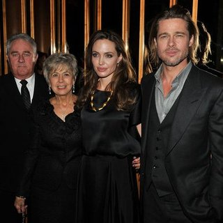 Angelina Jolie Pictures at Afterparty With Brad's Parents