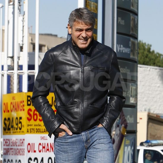 George Clooney headed to lunch in LA.