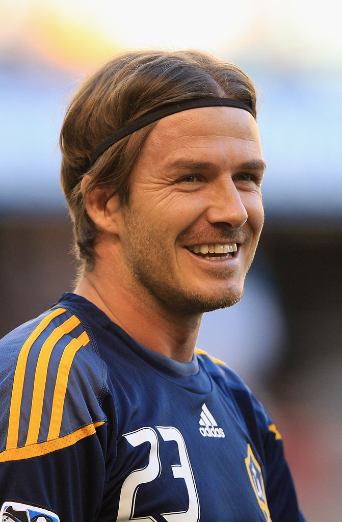 David Beckham was all smiles before his game in Australia.