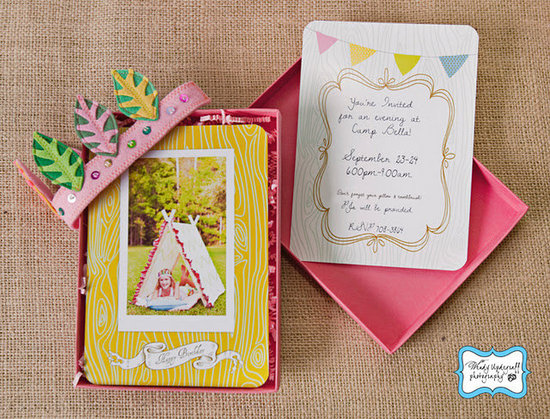 A Girly Camping-Themed Birthday Party Invitation