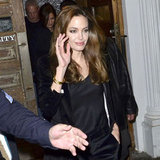 Angelina Jolie waved to fans on her way to her NYC hotel.