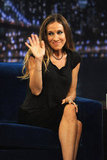 Sarah Jessica Parker waved to fans at Late Night With Jimmy Fallon.