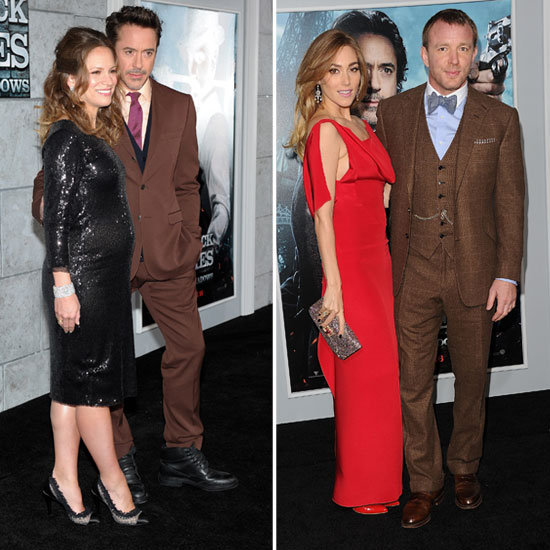 RDJ and Guy Ritchie Bring Their Lovely Ladies to the Sherlock Holmes Premiere