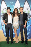 Ian Somerhalder, Nina Dobrev, and Paul Wesley were hot, hot, hot at the August 2010 Teen Choice Awards in LA.