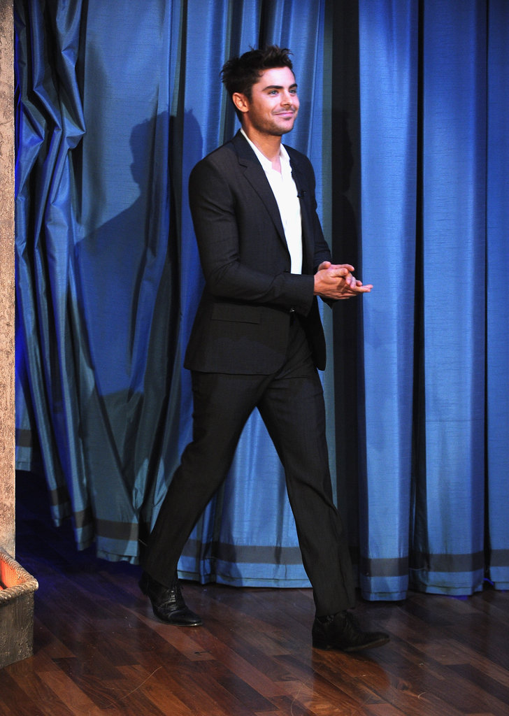 Zac Efron arrived at Late Night With Jimmy Fallon.