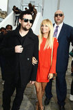 Nicole Richie and Joel Madden attended a Louis Vuitton show during Paris Fashion Week in October 2011.
