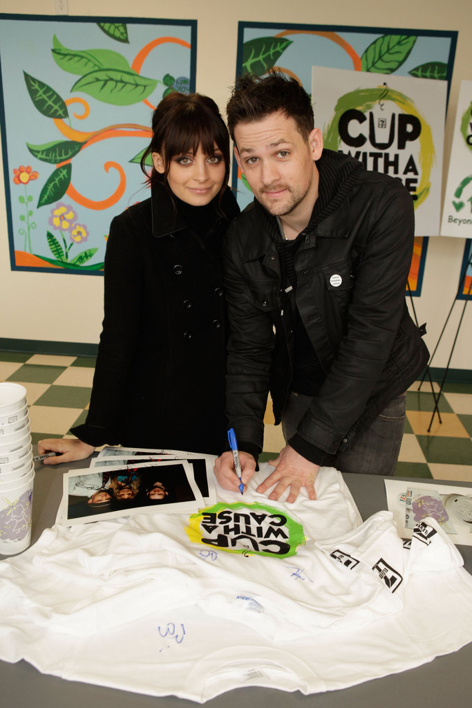 Nicole Richie and Joel Madden opened a new playground at LA's Beyond Shelter neighborhood resource center in February 2010.