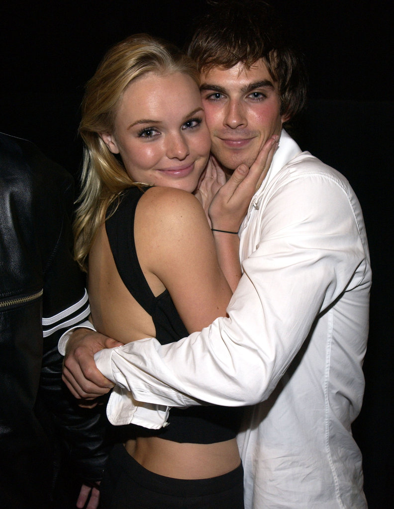 Young friends Kate Bosworth and Ian Somerhalder shared a hug at the LA screening of The Rules of Attraction in September 2002.