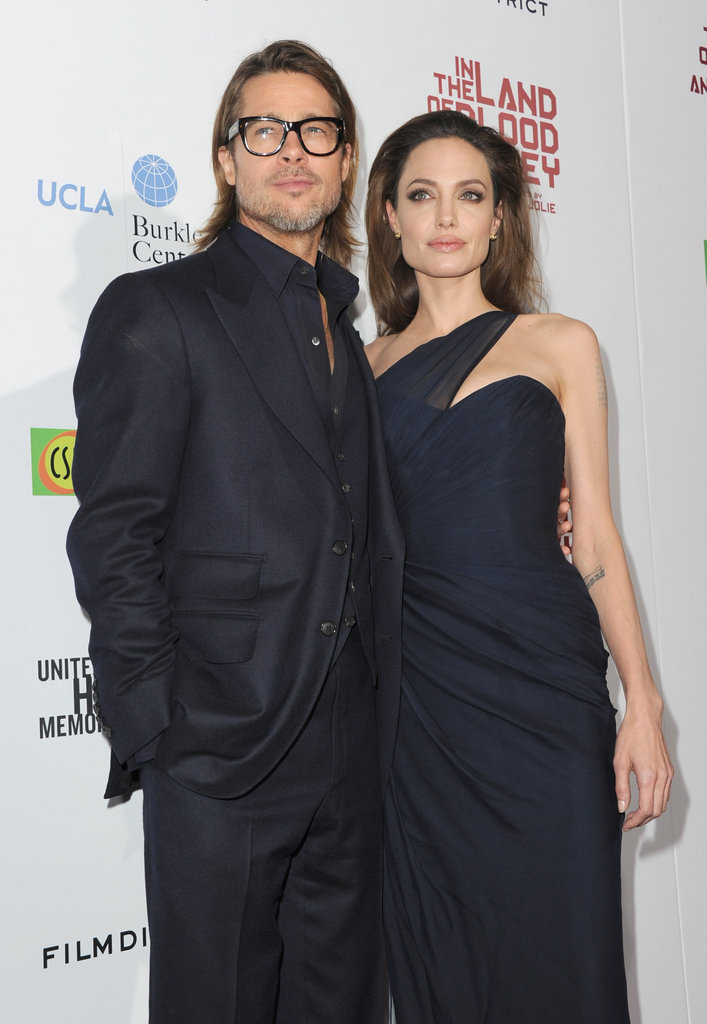 Angelina Jolie and Brad Pitt posed together.