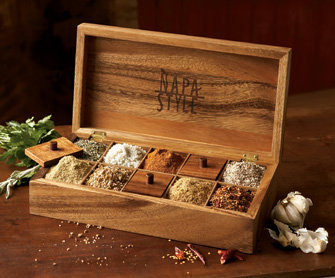 NapaStyle 10-Salt &amp; Spice Box - NapaStyle