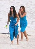 Selena Gomez walked on the beach in Cabo.