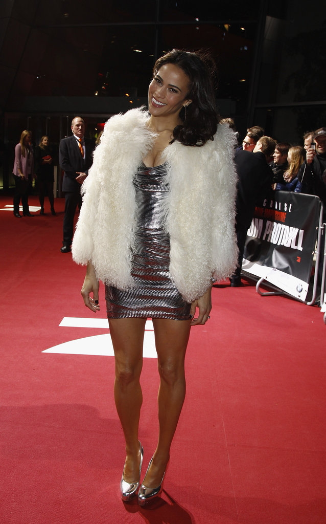 Paula Patton hit the red carpet in Germany.