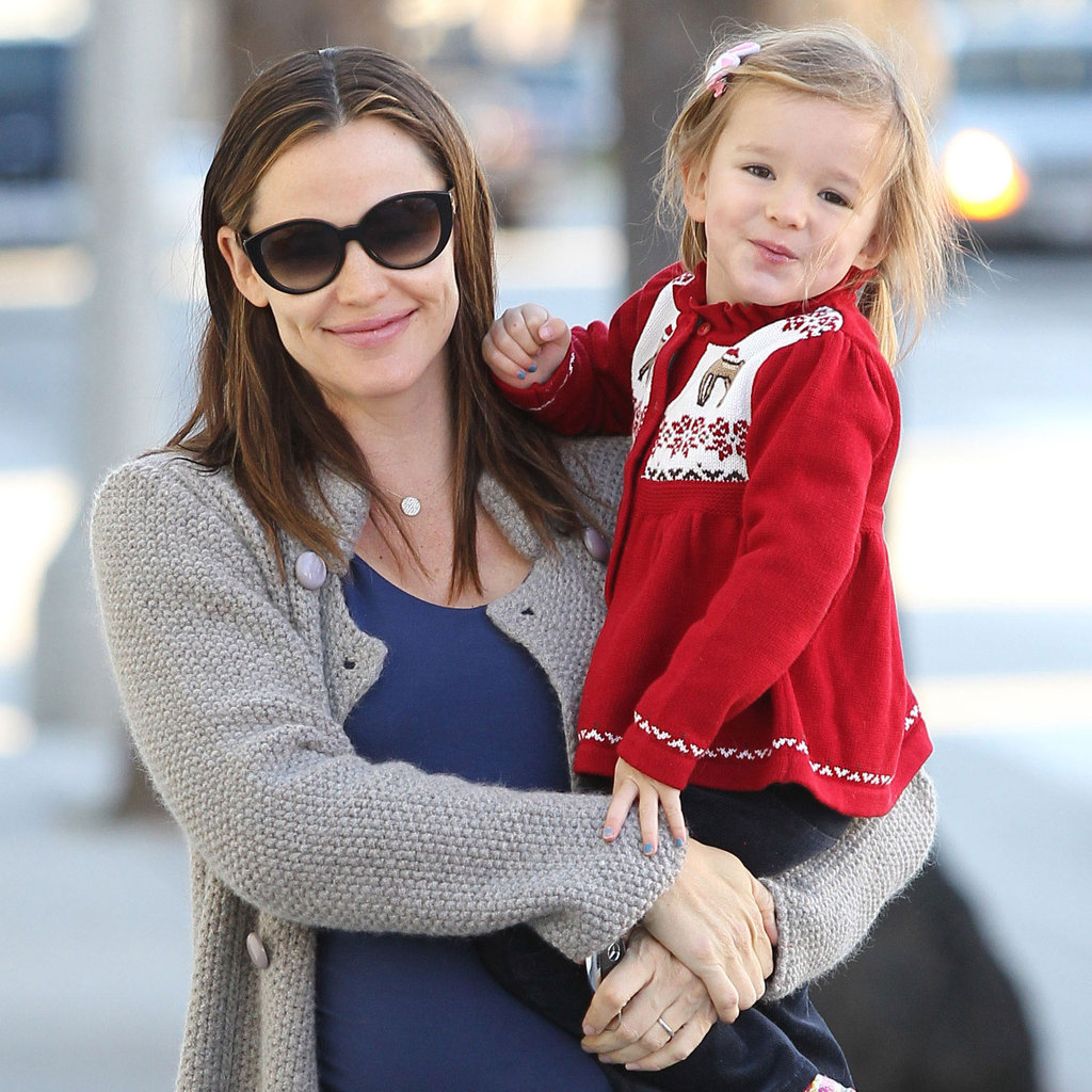 Jennifer garner and seraphina christmas sweater pictures popsugar