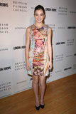 Always the young fashion trailblazer, she rocked a colorful Mary Katrantzou Spring 2012 dress.