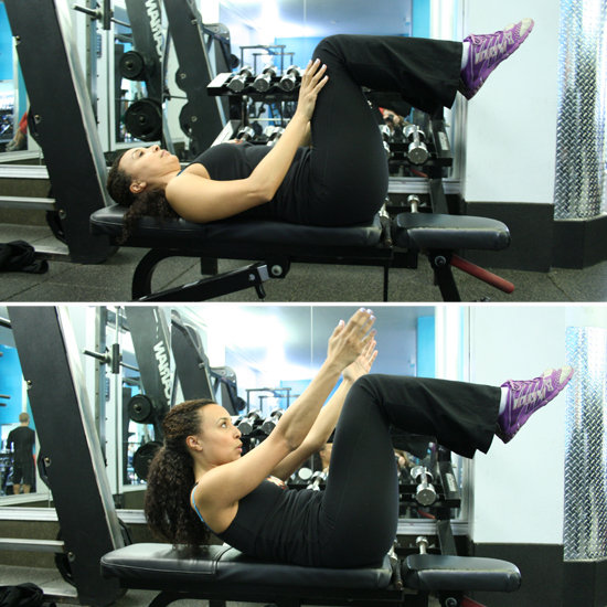 Advanced Crunches on Bench