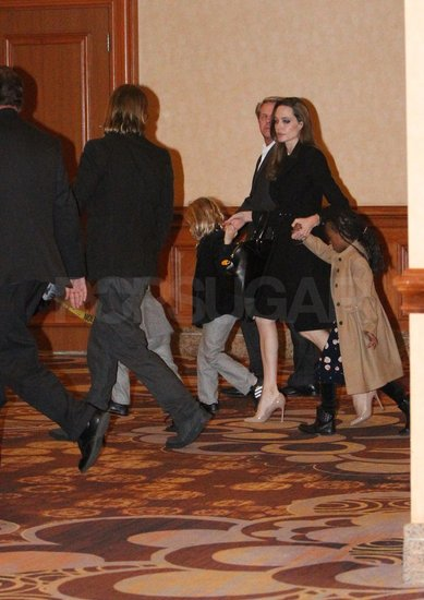 Brad Pitt Celebrates His 48th Birthday With Angelina and the Kids in Vegas