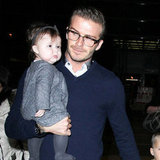 The Beckhams Jet to London For Harper's Very First Holiday