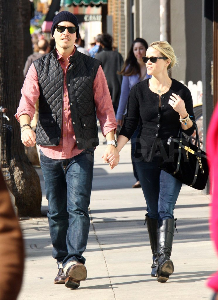 Reese and Jim held hands walking around LA.