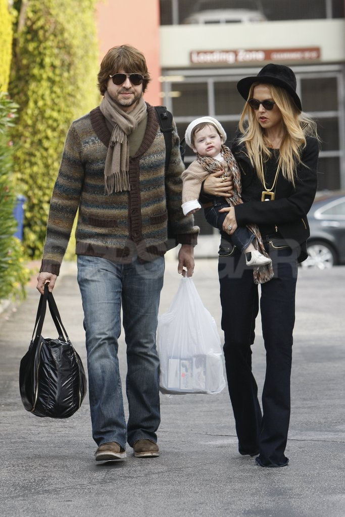 Rachel Zoe had a fashionable day out with her family.