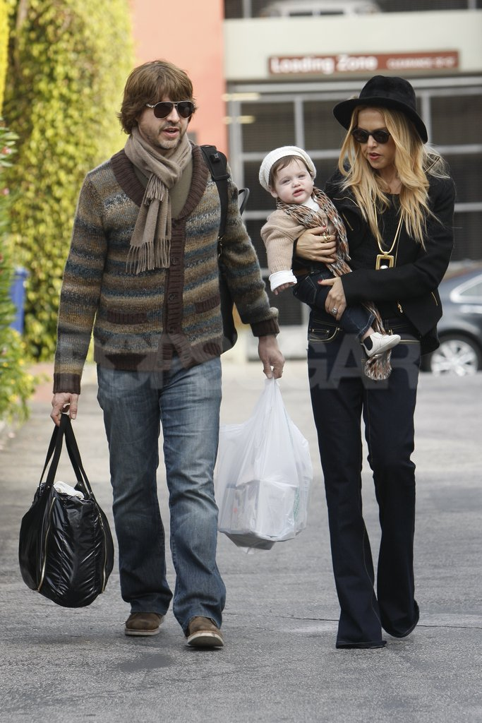 Rachel Zoe and Rodger Berman walked around LA with baby Skyler.