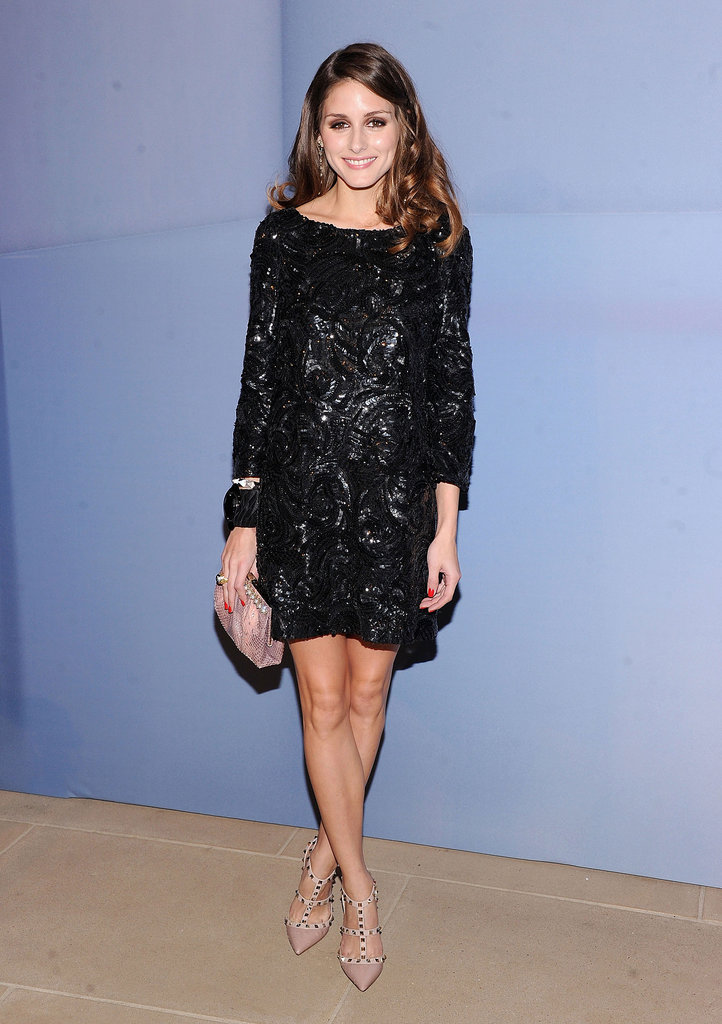 Olivia Palermo's little black embellished Marchesa is an ultra-chic twist on sparkly style.