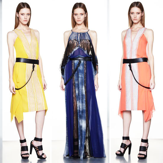 Runway Report and Pictures of BCBG Pre Fall 2012 Catwalk Collection: Asymmetrical Hemlines, Lace and Neon Abound!