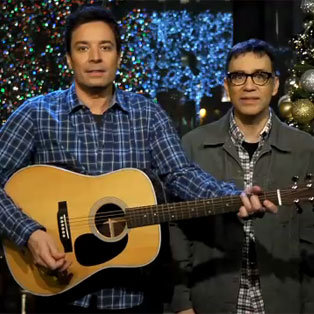 Jimmy Fallon Sings Christmas Songs For SNL