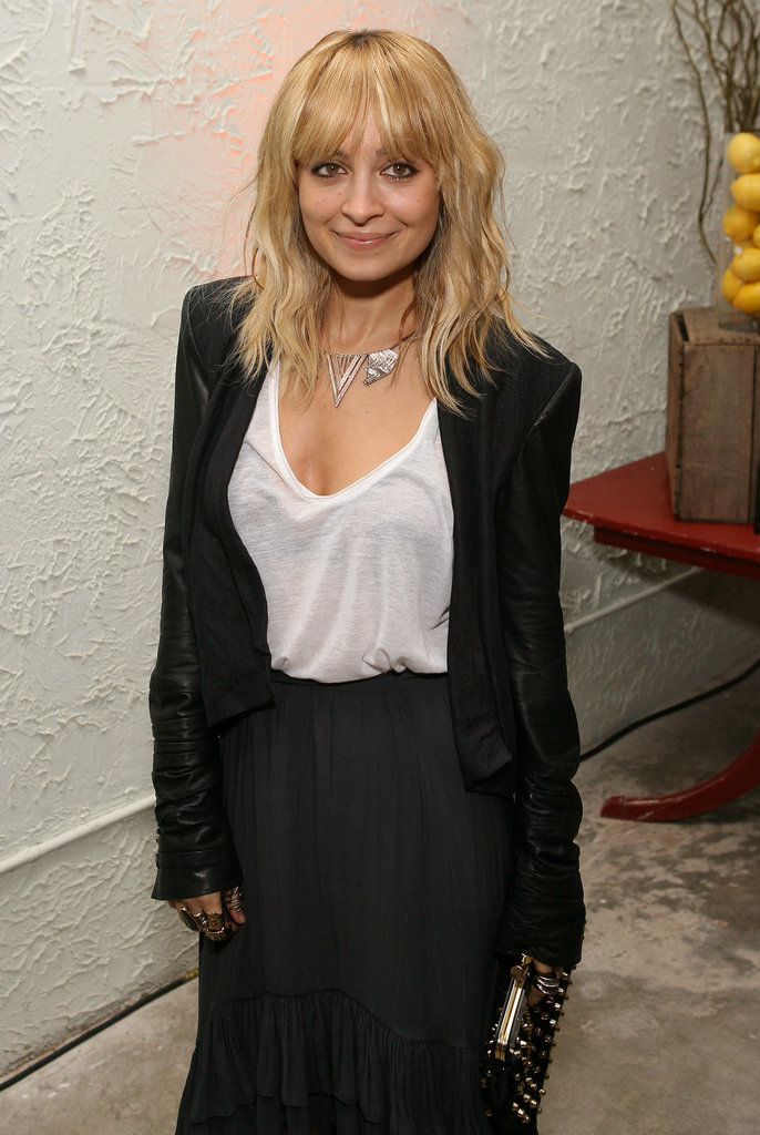 Nicole Richie wore black and white.