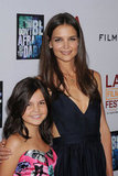 Katie Holmes flashed a smile with her Don't Be Afraid of the Dark costar, Bailee Madison, at a screening for the film in June 2011.