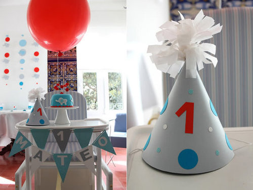 Modern Elephant Balloon Birthday