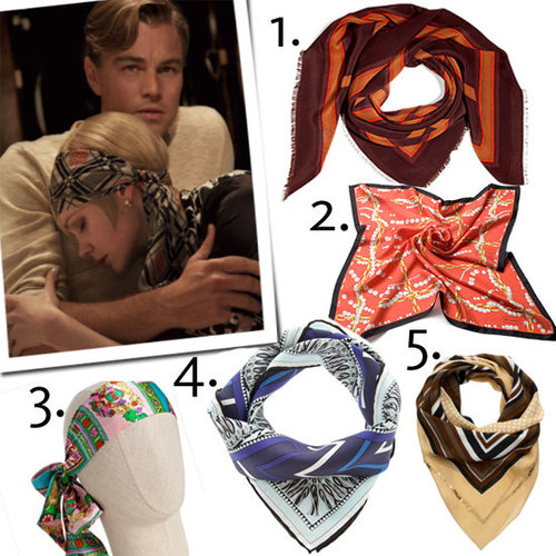 Silk Headscarves Like Daisy Buchanan Wears in The Great Gatsby